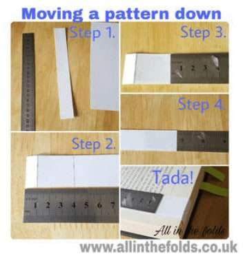 Moving a pattern down in the book
