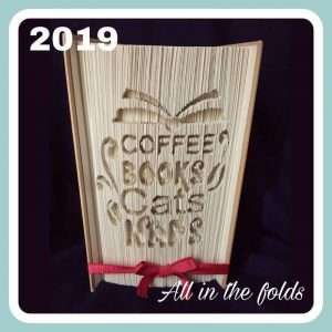 coffee, books, cats, naps pattern