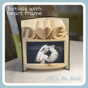 initials photo frame for wedding gift