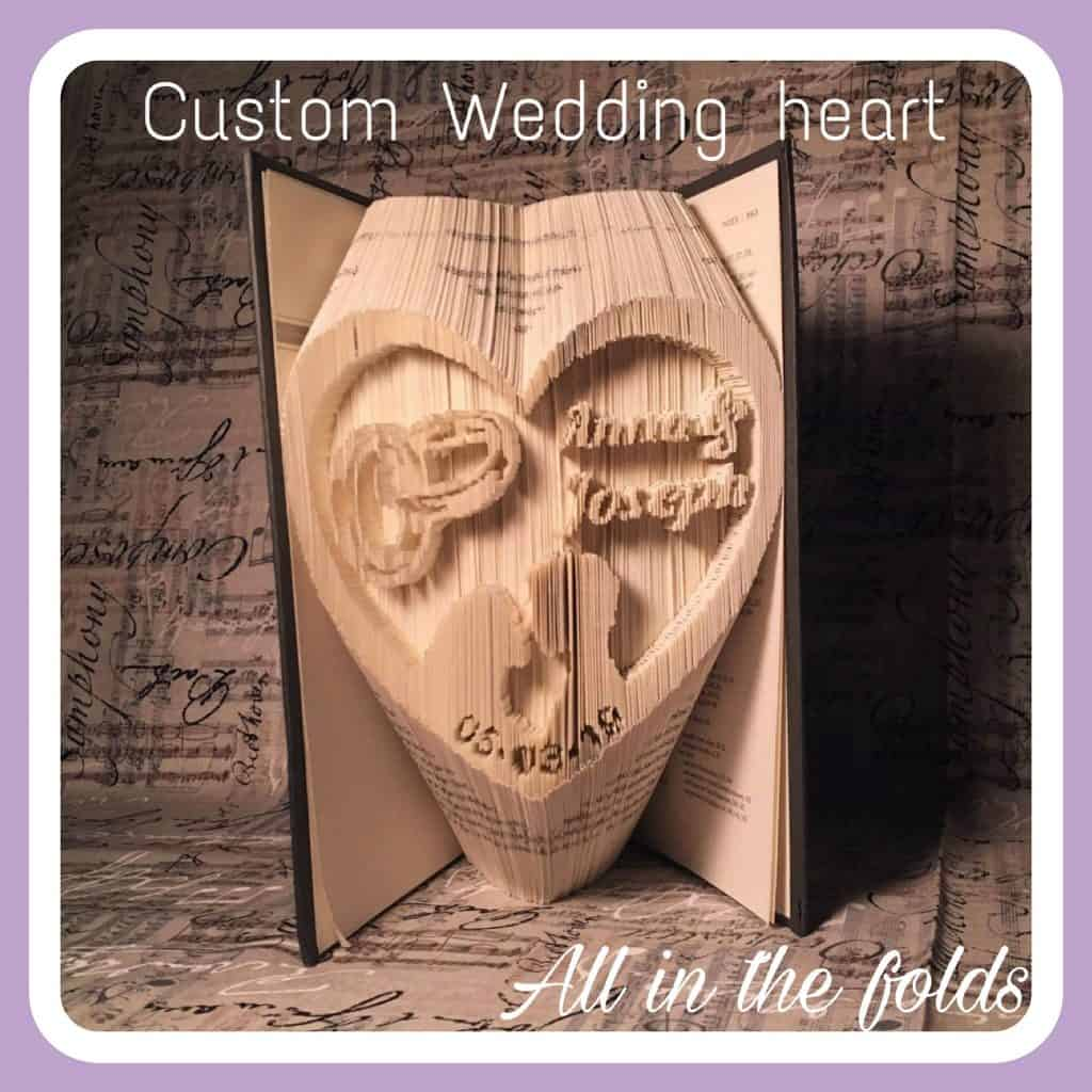 Wedding heart with detailed rings