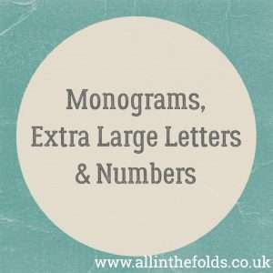 Alphabets - Extra large letters & Monograms
