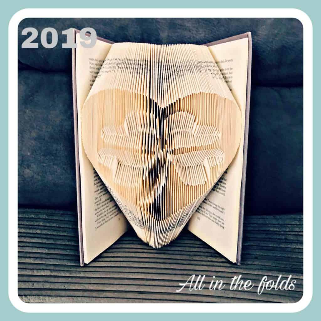 clover in heart book folding pattern